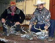 Whitetail hunters at the end of the season