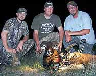 Hunts at night with a bow for exotic rams in mason county at The Wildlife Ranch