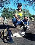 Hunts for Blackbuck Antelope in the West Texas hills full of granite rocks