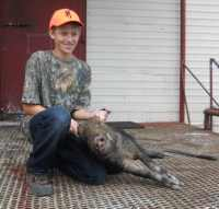 youth hog hunt at The Wildlife Ranch