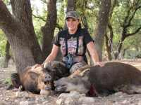 woman hunting wild hogs at The Wildlife Ranch