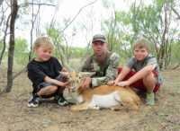 kids blackbuck hunt trees ranch