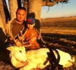 father/son hunt exotic deer
