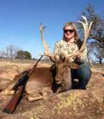 fallow buck chocolate rifle hunt